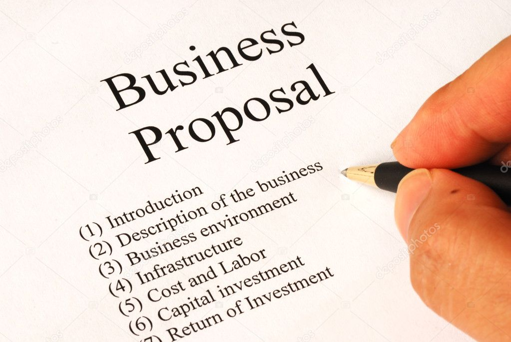 Working on the main topics of a business proposal