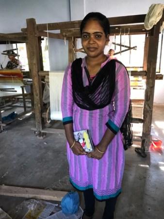 南インドの機織り