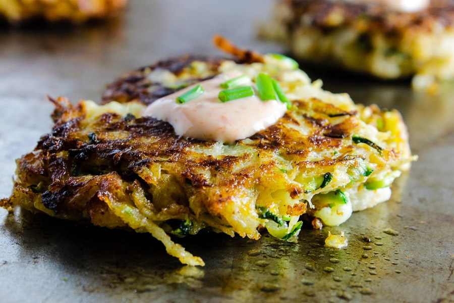 Sweet Potato Zuchini Sesame Rosti