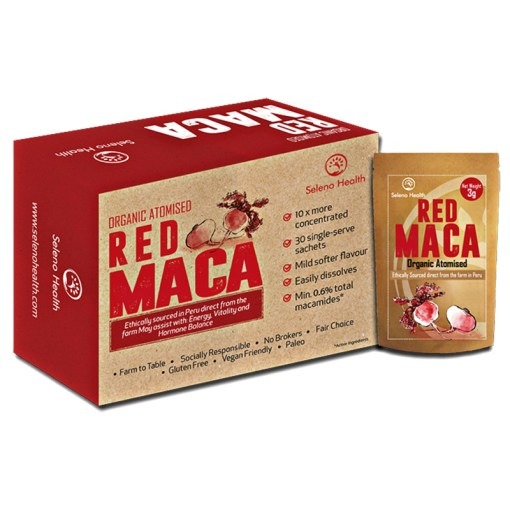 Atomised red Maca by Seleno Health