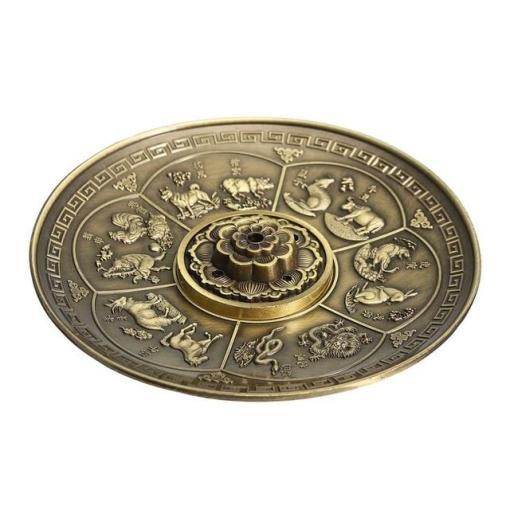 Porte-encens artisanal Rétro avec 5 trous Lotus , 2 couleurs