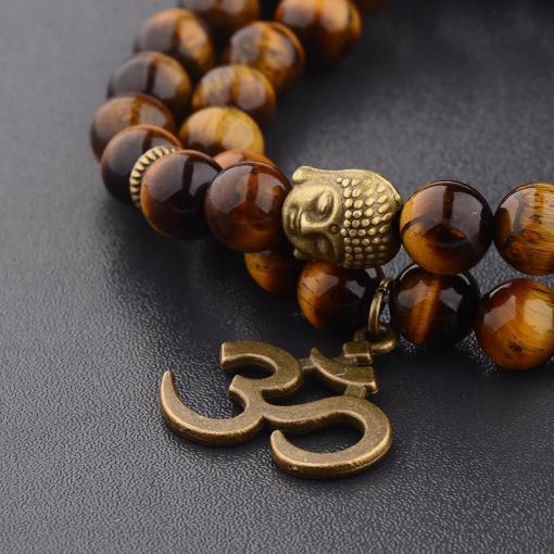 Bracelet OM oeil de tigre