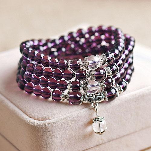 Bracelet Mala 108 perles en Améthyste