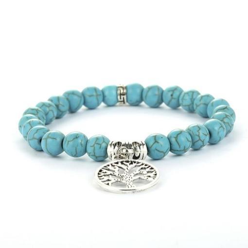 Bracelet Arbre de Vie en Turquoise