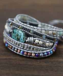 Bracelet Bohème Chic en perles et turquoise