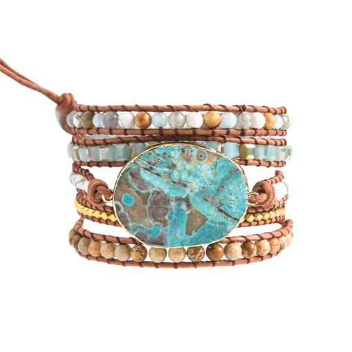 Bracelet Bohème Chic en perles et pierre de jaspe