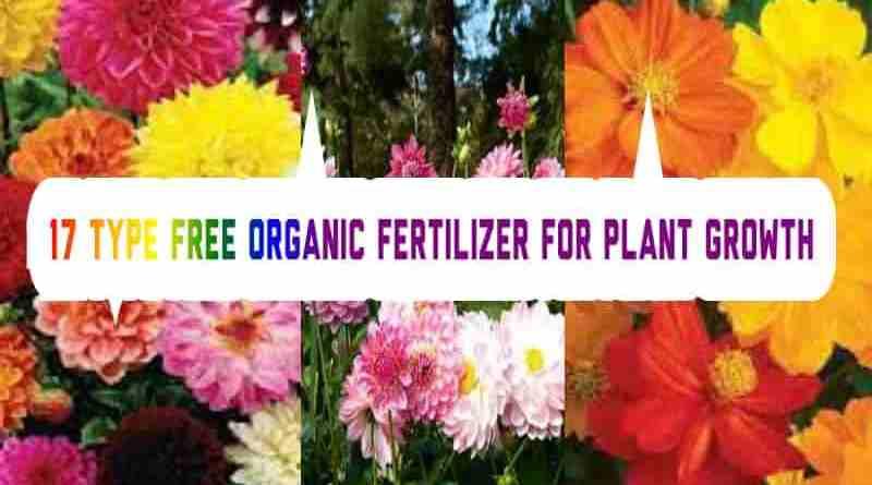 17 type free organic fertilizer