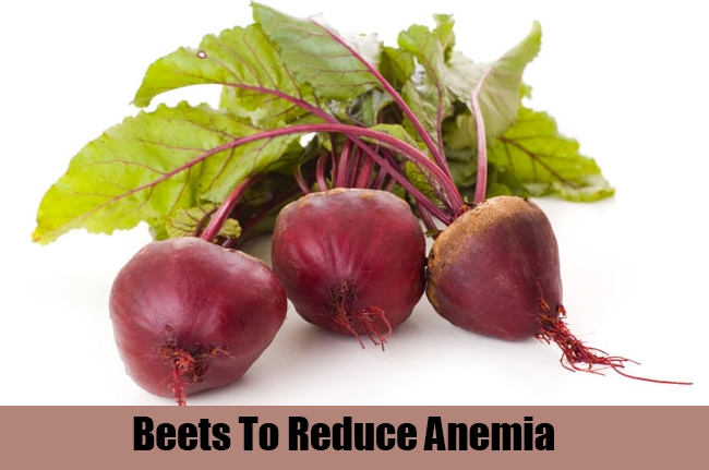 Beets To Reduce Anemia