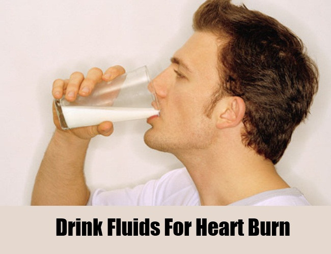 Drink Fluids For Heart Burn