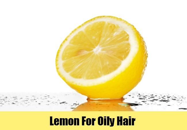 Lemon For Oily Hair