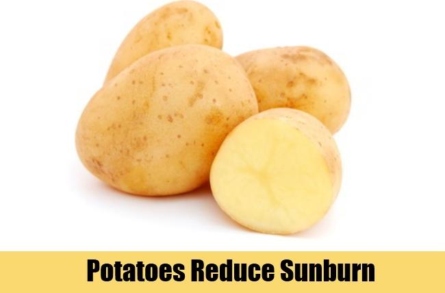 Potatoes Reduce Sunburn