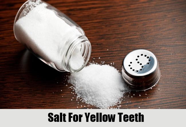Salt For Yellow Teeth