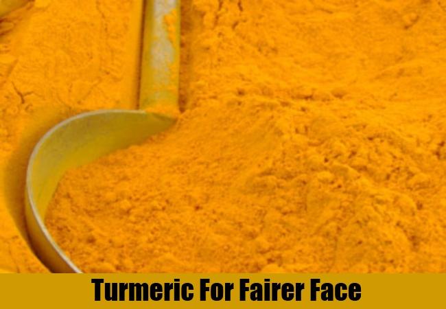 Turmeric For Fairer Face