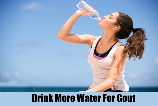 Drink More Water For Gout