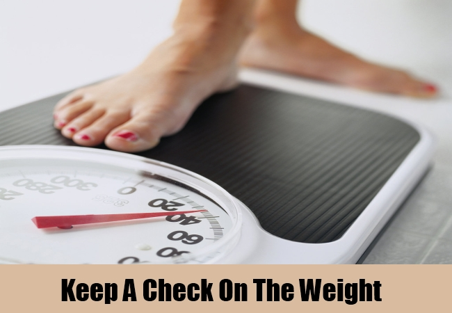 Keep A Check On The Weight