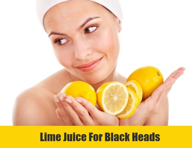 Lime Juice For Black Heads