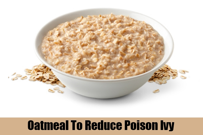 Oatmeal To Reduce Poison Ivy