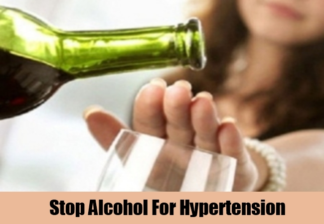 Stop Alcohol For Hypertension