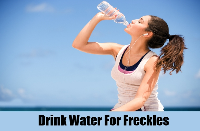 Drink Water For Freckles