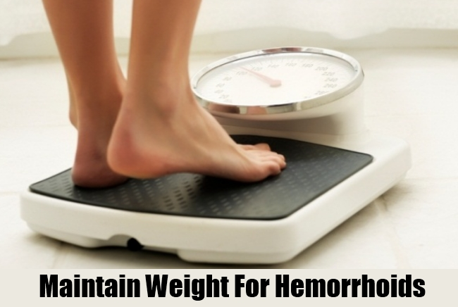 Maintain Weight For Hemorrhoids