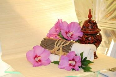 Blüten, Handtuch, Wellness, Prävention