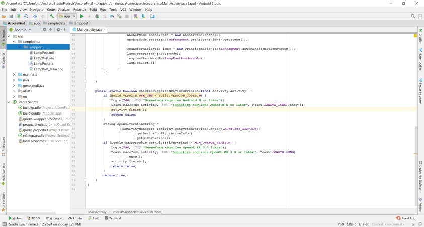 arcore app development