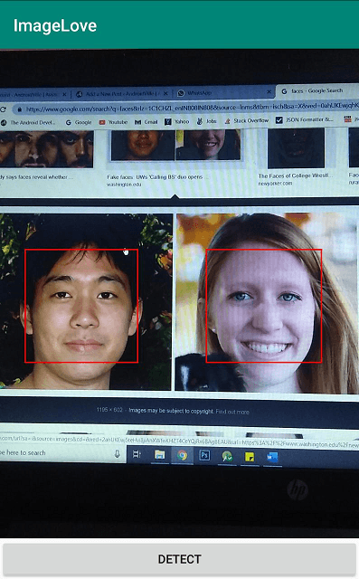 Machine Learning for Face Detection in Android