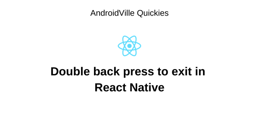 double back press to exit