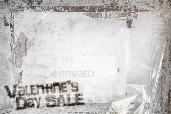 Valentine's Day Sale grunge background