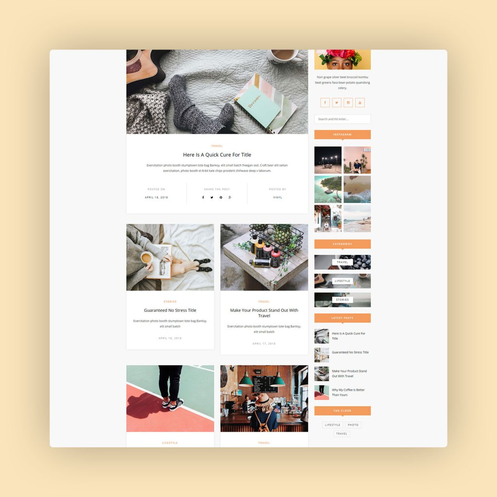 Vinyl A Lifestyle WordPress Theme Blog 2