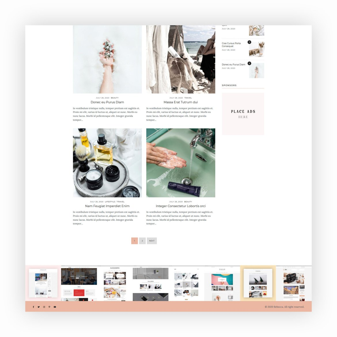 Rebecca - WordPress Blog Theme 3