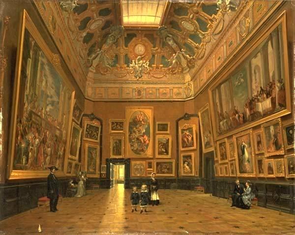 The Salon Carr In The Louvre K Lucjan Przepirski