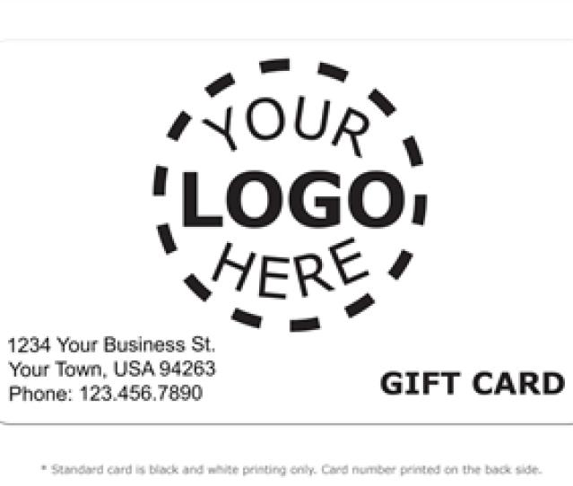 Gift Card Design  Logo Card Product Image