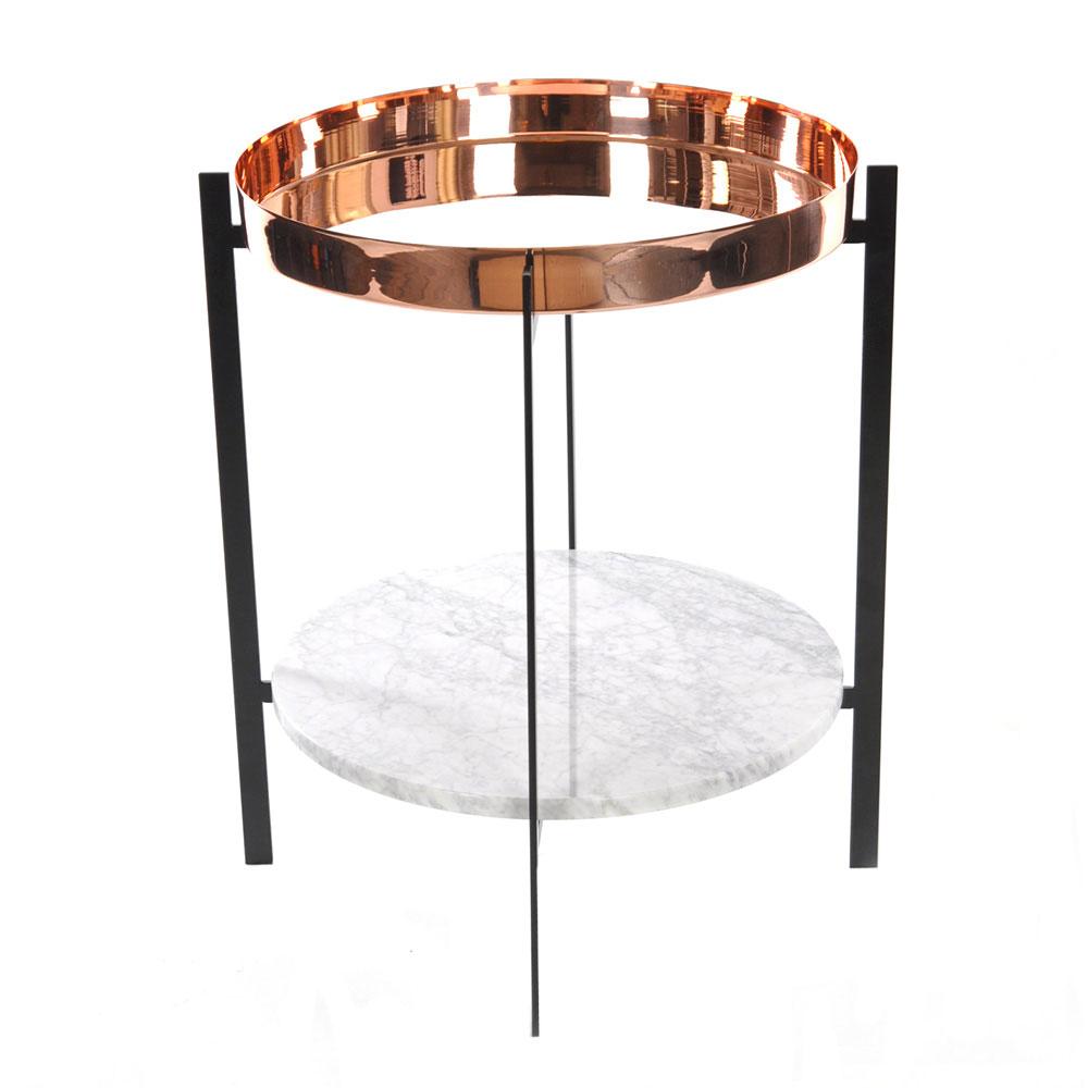 deck side table black base copper marble ox denmarq royaldesign co uk