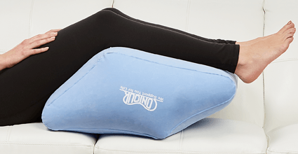wedge pillow leg relief by contour