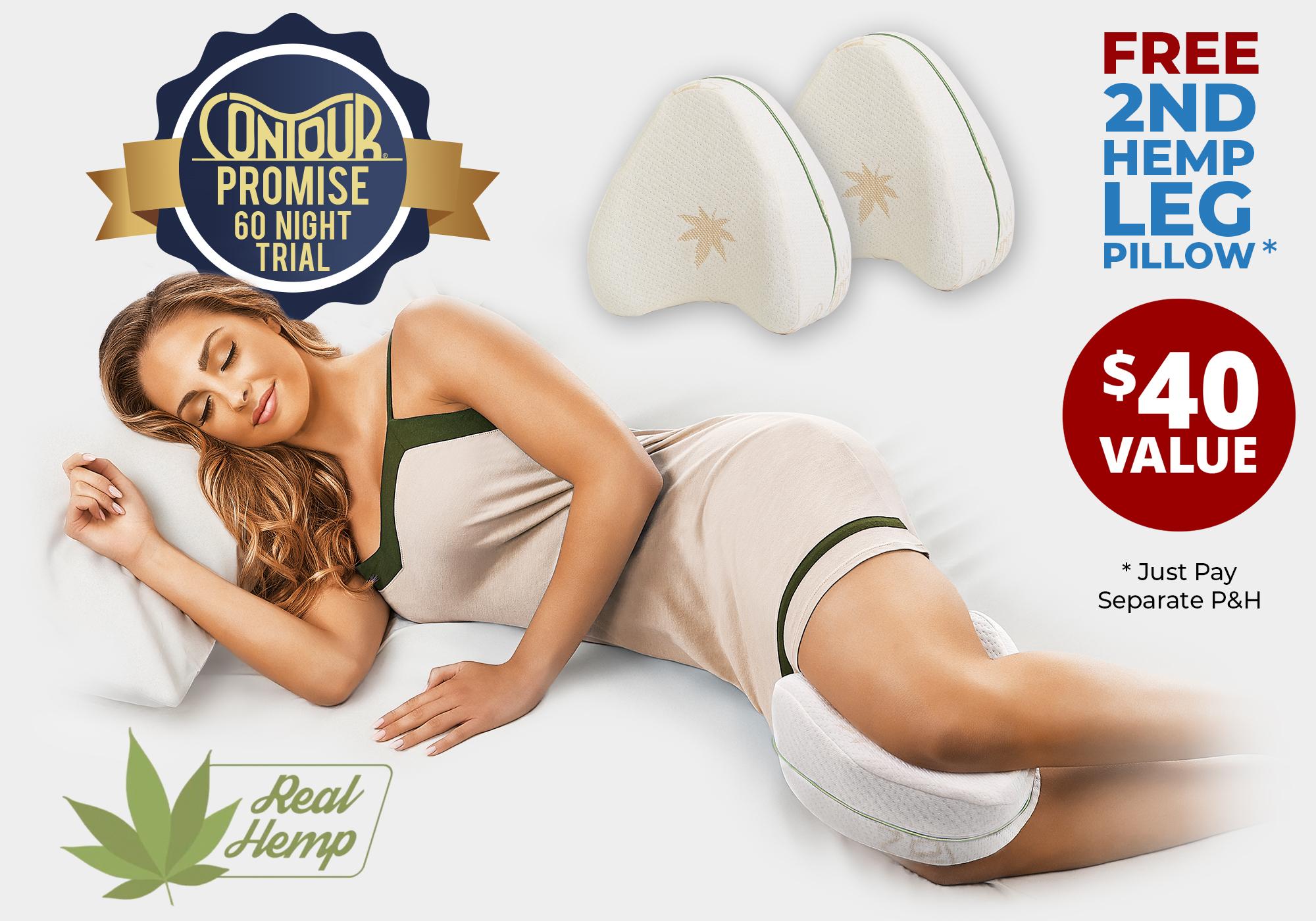 contour legacy hemp leg pillow buy 1