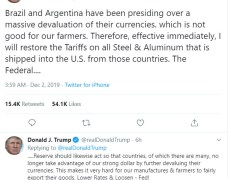 Brazil government in touch with the US trade reps on tariffs