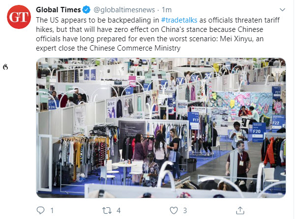 Tweet from theChina Global Times_