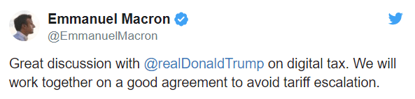 Presidents Trump and Macron spoke on Sunday, Greg had the info here: