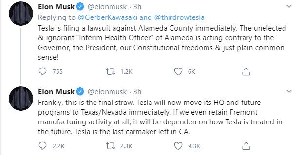 Musk Tesla Texas or Nevada