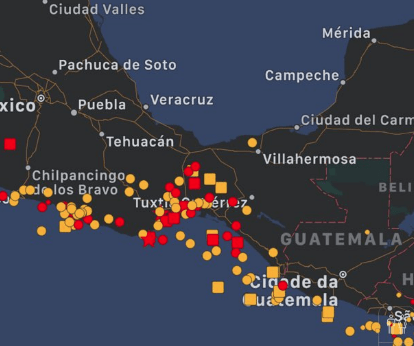 Earthquake hits near the pacific coast of Mexico