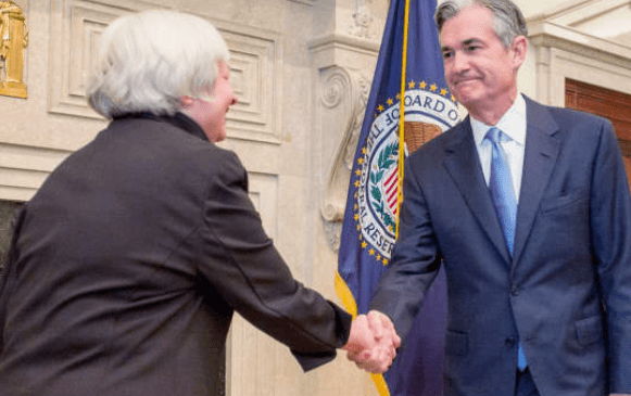 US Treasury Secretary Yellen says its entirely up to the Fed how they manage monetary policy.