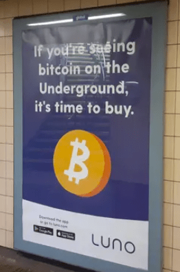 The UK's Advertising Standards Authority has banned commercials for BTC advertising: