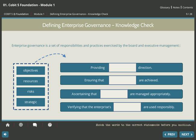 COBIT® 5 Foundation Screenshot 5