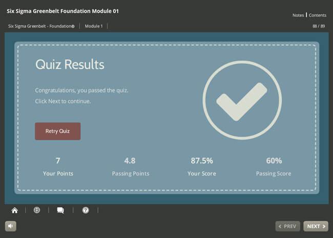 Six Sigma Green Belt Foundation Screenshot 4