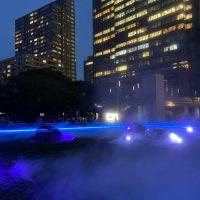 夕涼みにぴったりかも 東京ミッドタウンの「光と霧のデジタルアート庭園」