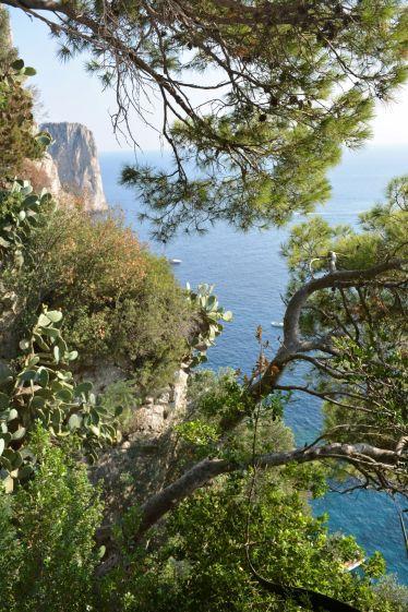 Capri, vue sur la cote sud