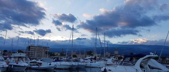 L'Etna vue du port