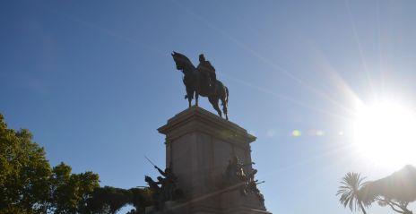 Statue équestre de Garibaldi.