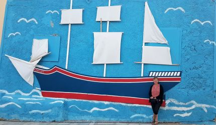 Brigitte et les bateaux.